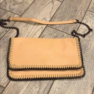 Natural foldover purse